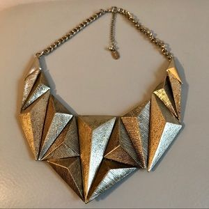 Natasha Geometric Chunky Bib Statement Necklace